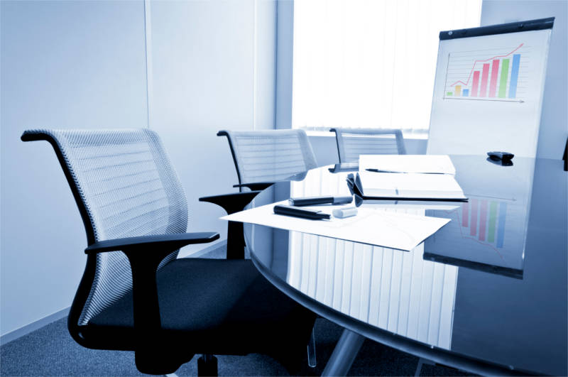 background; black; blue; board; business; chair; chairs;  company; concepts; conference; contemporary; corporate; design; elegant; empty; furniture; illustration; indoors; interior; light; meeting; modern; nobody; notebook; objects; office; presentation; professional; reflection; room; screen; seat; seats; sitting; table; wall; work; workplace; diagram; graph; notebook; flip; chart; glass; window;